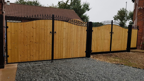 Steel framed wooden Gates